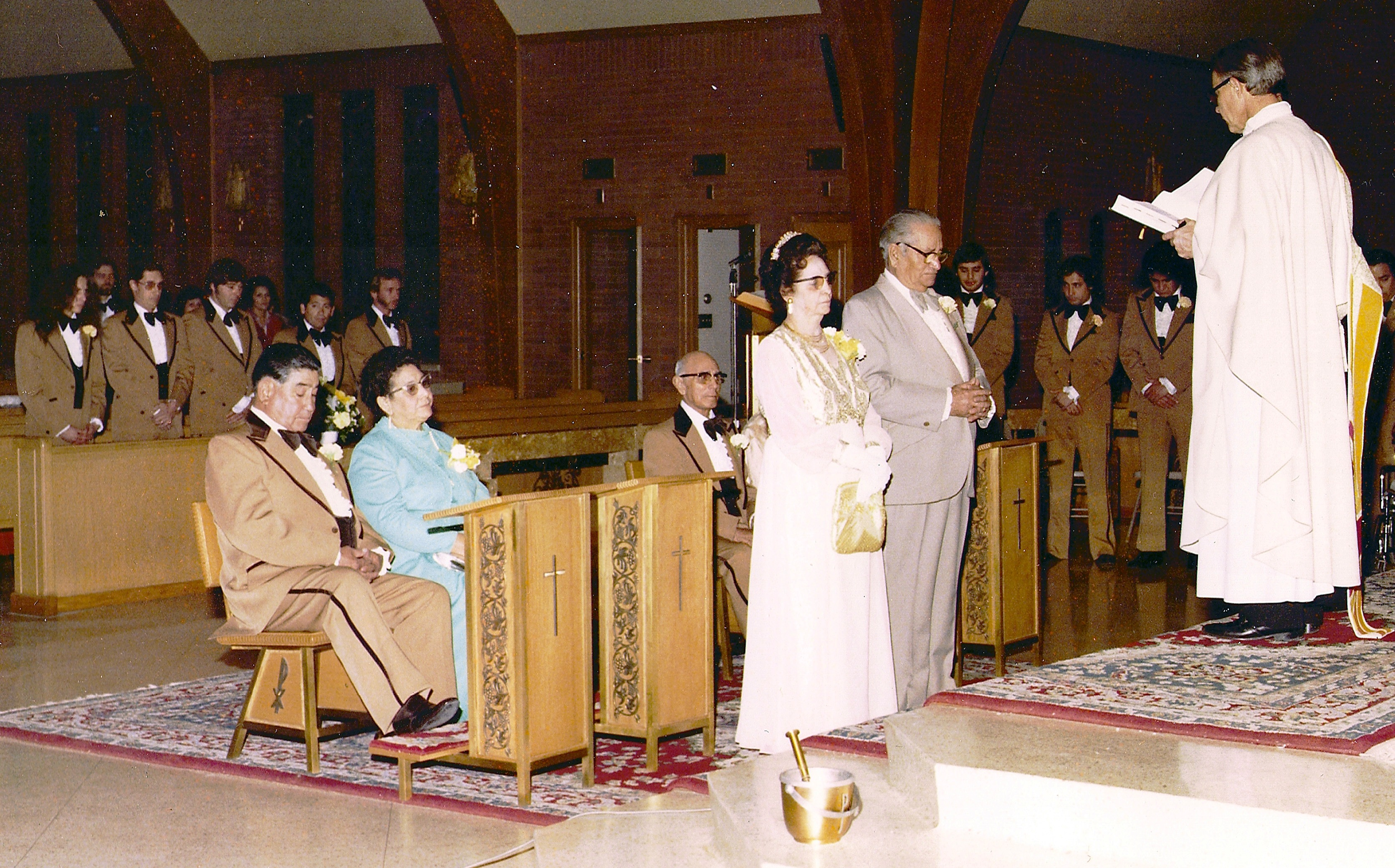 Delia And Edward Tafoya Renewal Of Vows At 50th Wedding Anniversary Color Photo