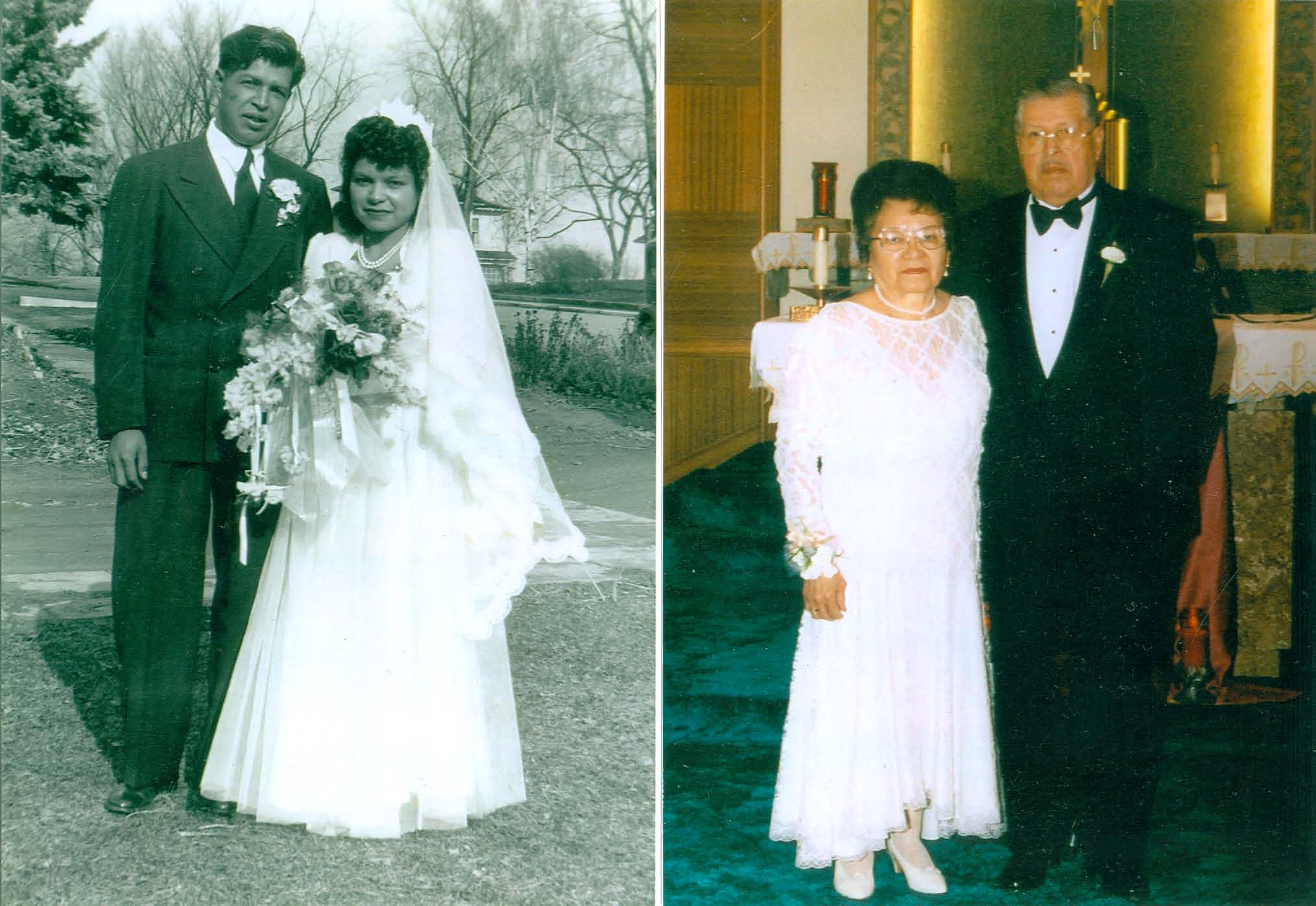 Wedding and 50th Wedding Anniversary of Tony Montour, Sr., and Julia ...